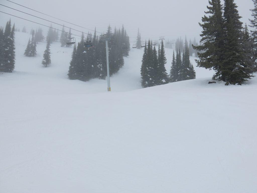 Short but fun Alpine Meadows chair at Silver Star, February 2017
