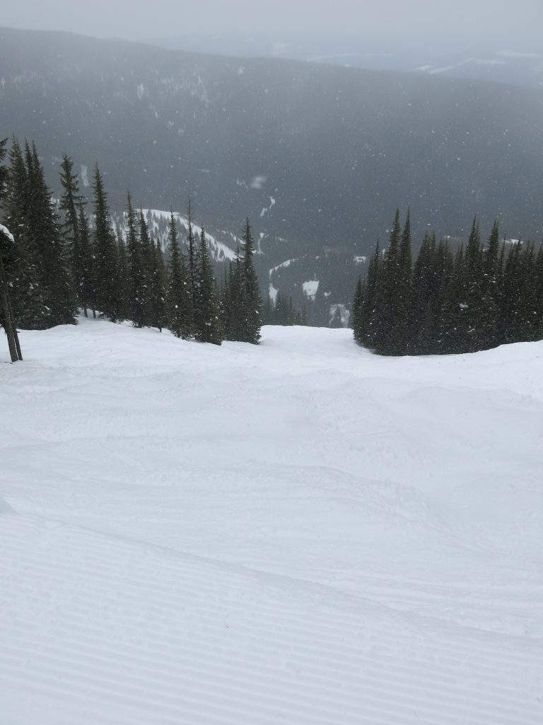 Backside bumps at Silver Star, February 2017