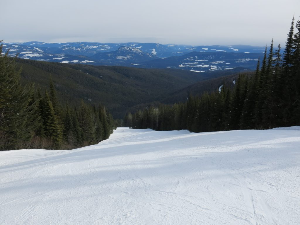 Another nice groomer at Silver Star, February 2017