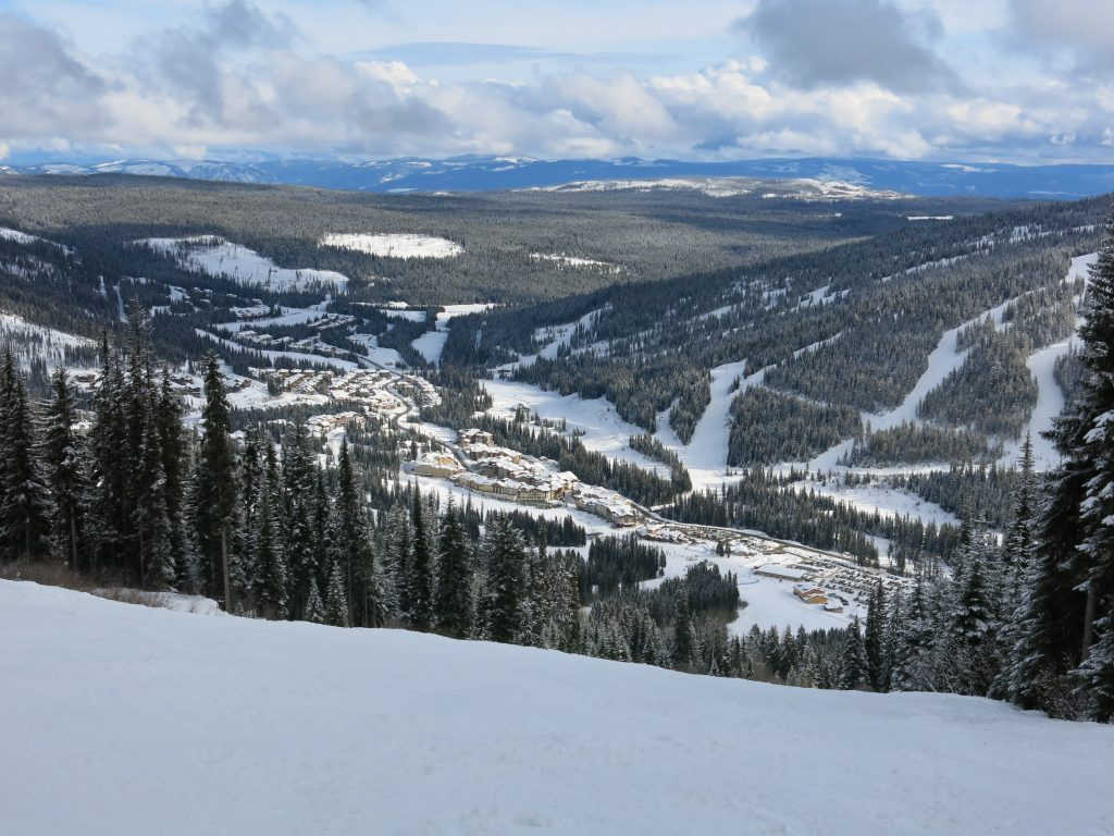 Village View from the Sunburst zone at Sun Peaks, February 2017