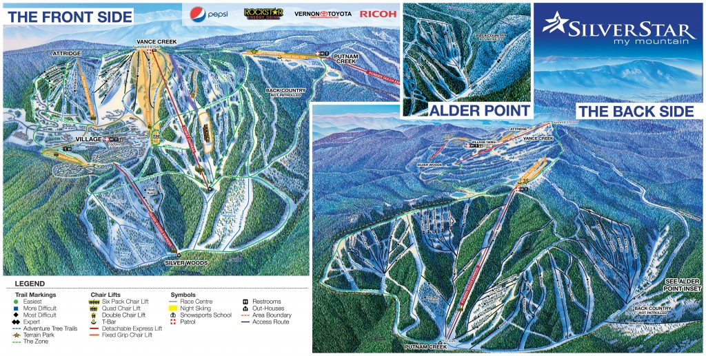 Silver Star Trail map 16/17