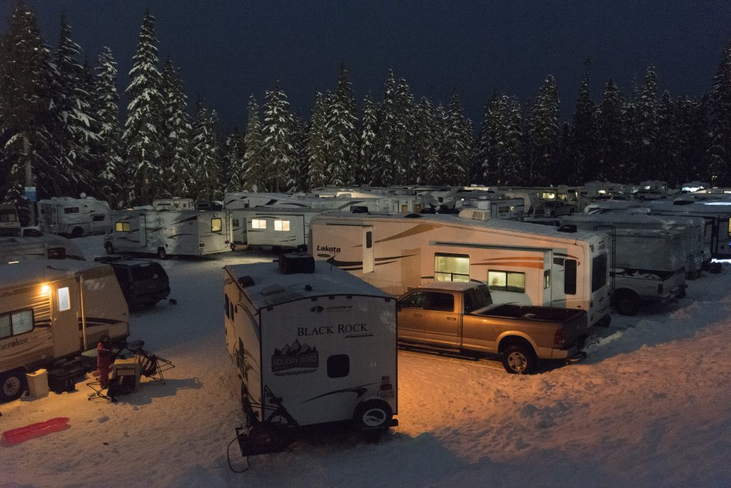 White Pass RV Parking lot, December 2017