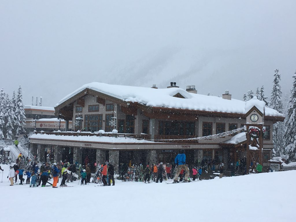 Base Lodge at Stevens Pass, December 2017