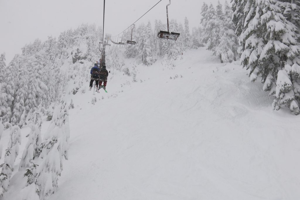 7th Heaven chair at Stevens Pass, December 2017