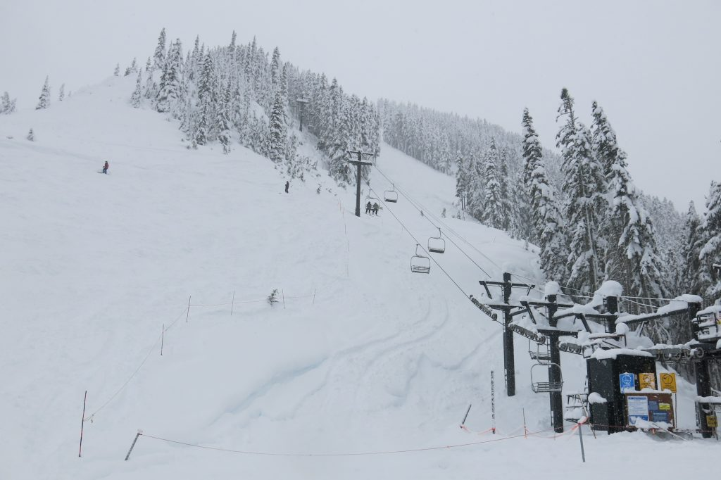 Double Diamond chair at Stevens Pass, December 2017
