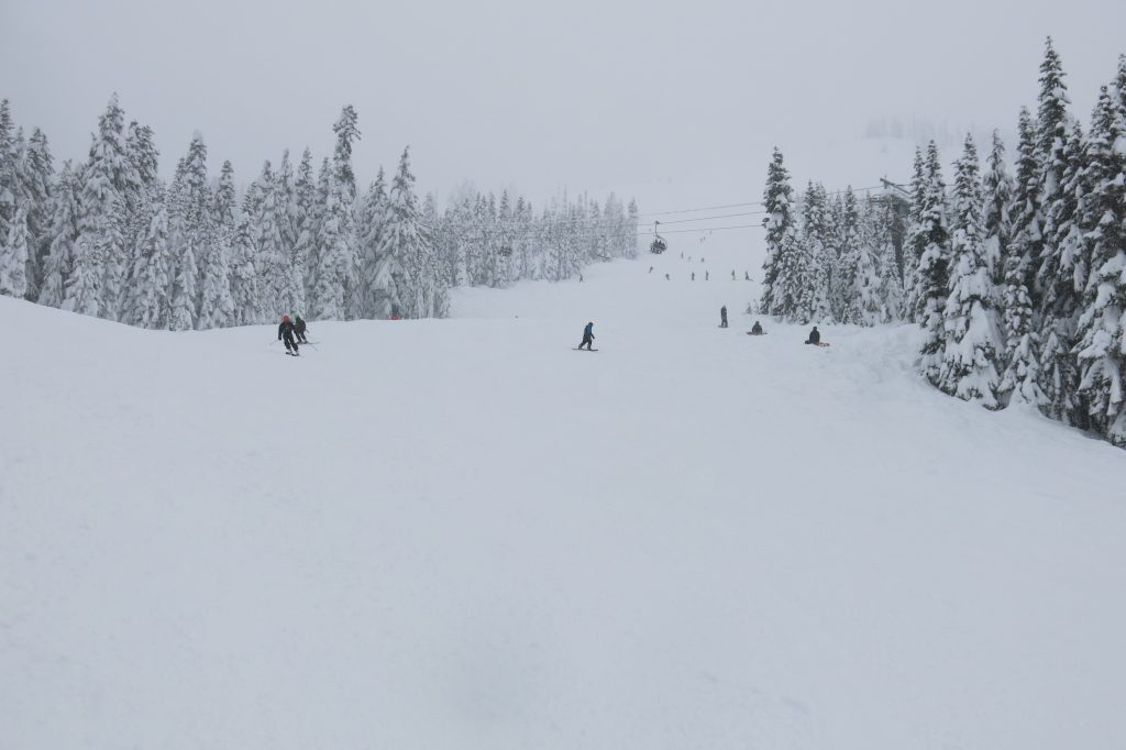 Mill Valley intermediate terrain at Stevens Pass, December 2017