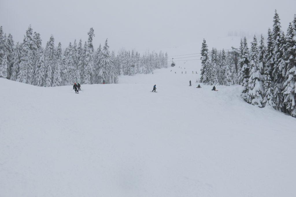 Mill Valley intermediate terrain at Stevens Pass, December 2017