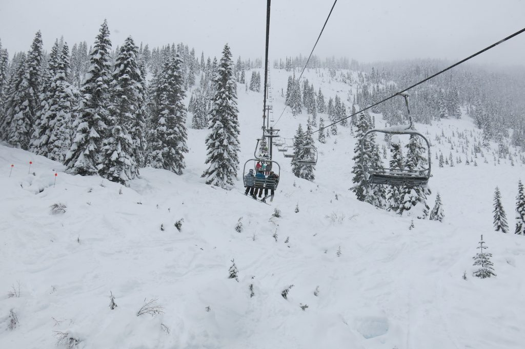 Southern Cross chair at Stevens Pass, December 2017