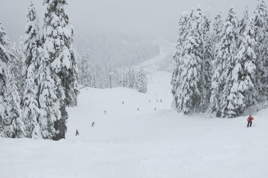 Frontside terrain at Stevens Pass, December 2017
