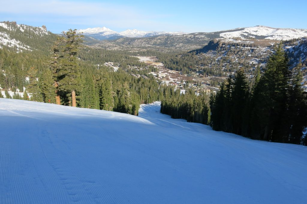 First day of the season before Thanksgiving at Kirkwood