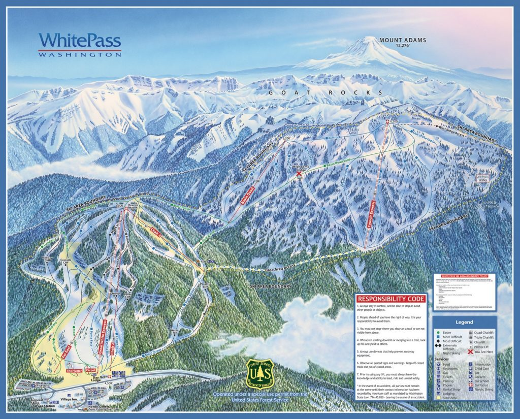 White Pass Trail Map 17/18