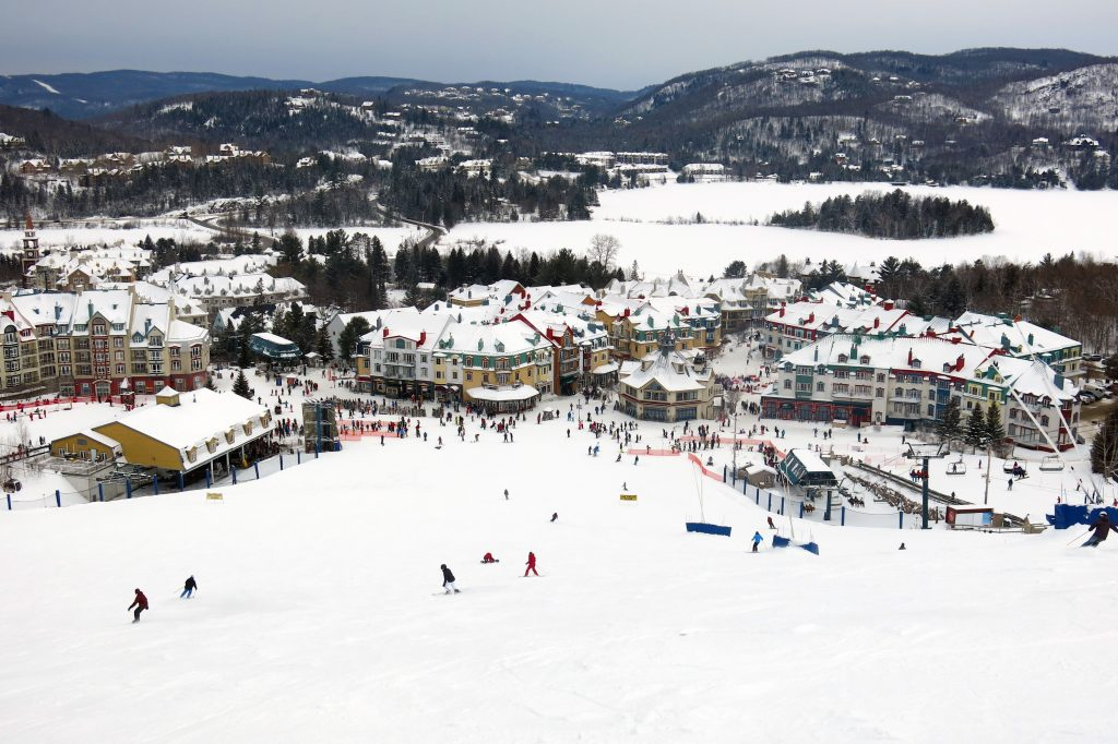 Mont-Tremblant Village and South Side base area, February 2018
