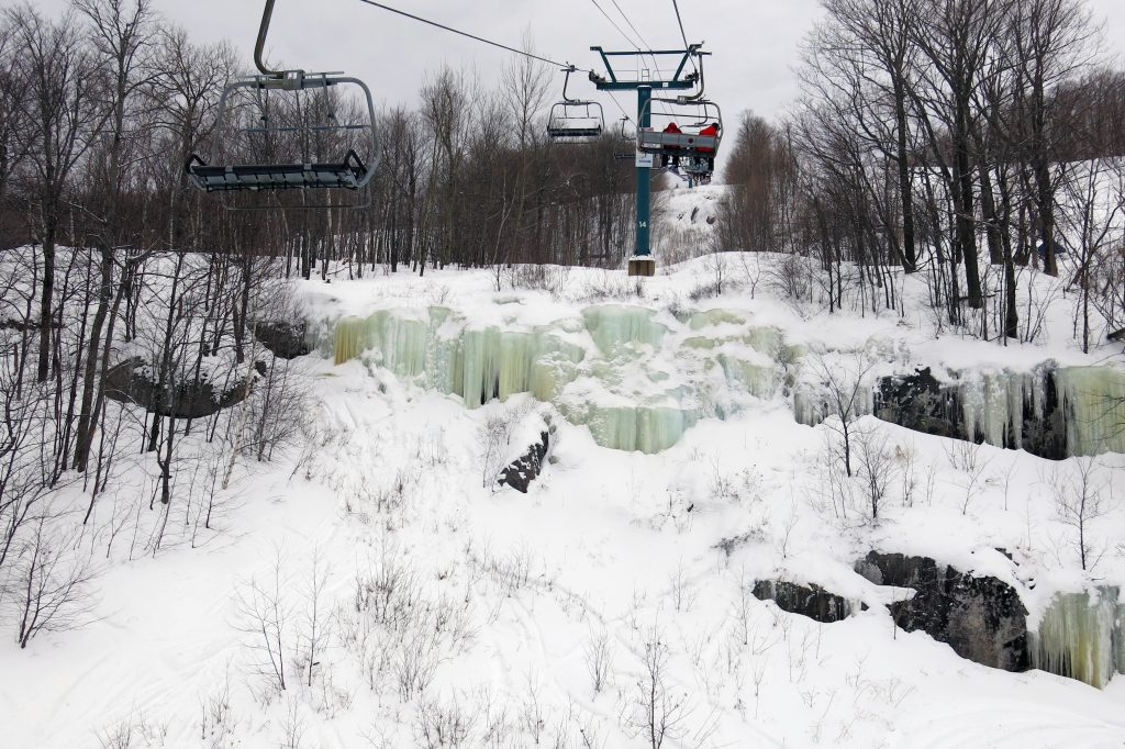 Interesting icefalls at Mont-Tremblant, February 2018