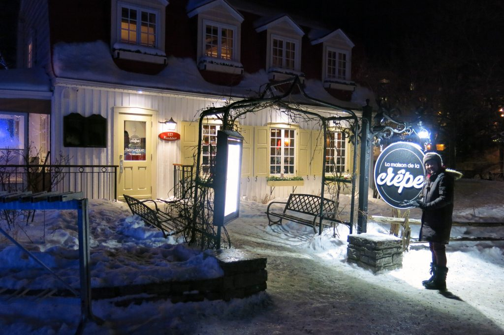 Village dining at Mont-Tremblant, February 2018