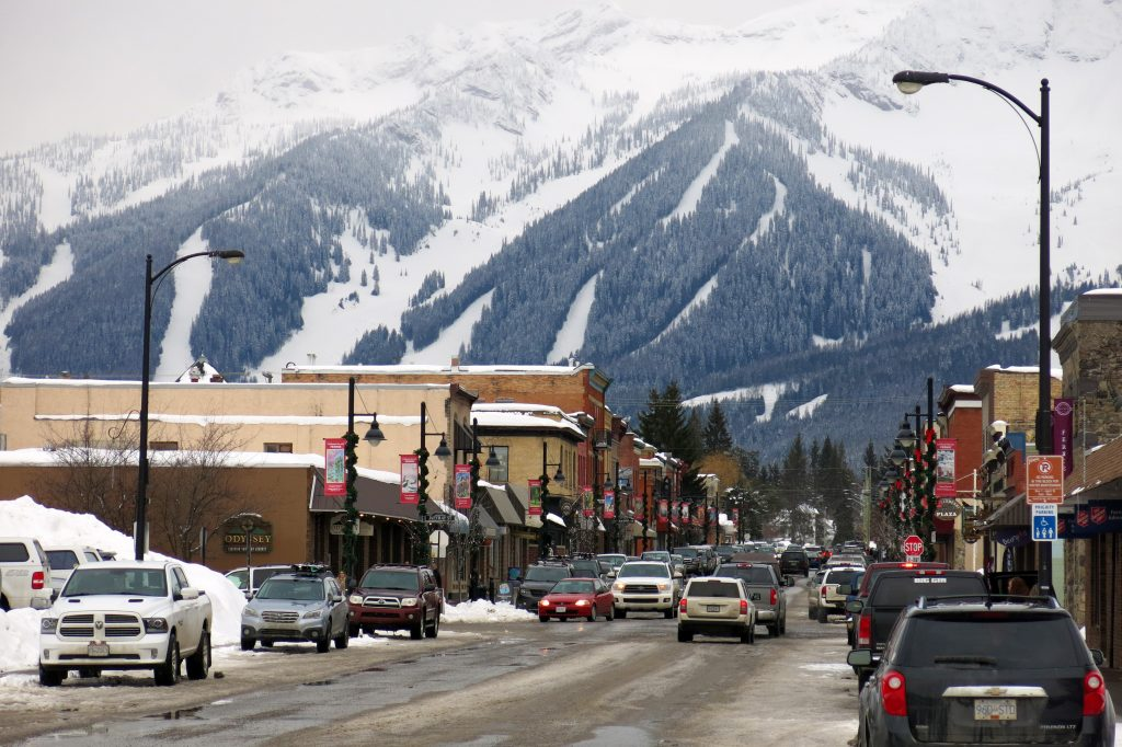 Fernie B.C. downtown and resort, March 2018