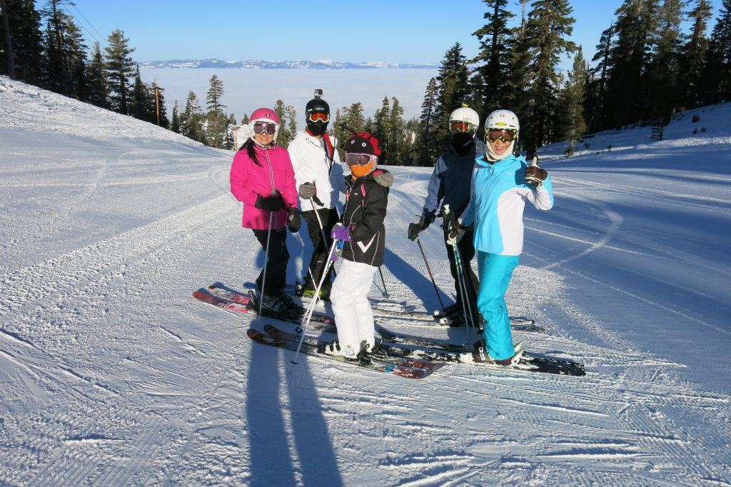 AiRung and family at Heavenly, January 2018
