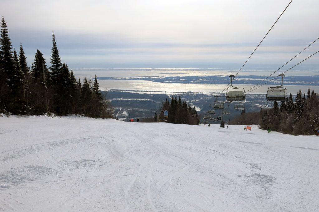 L'Express Du Sud at Monte-Sainte-Anne, Quebec, February 2018