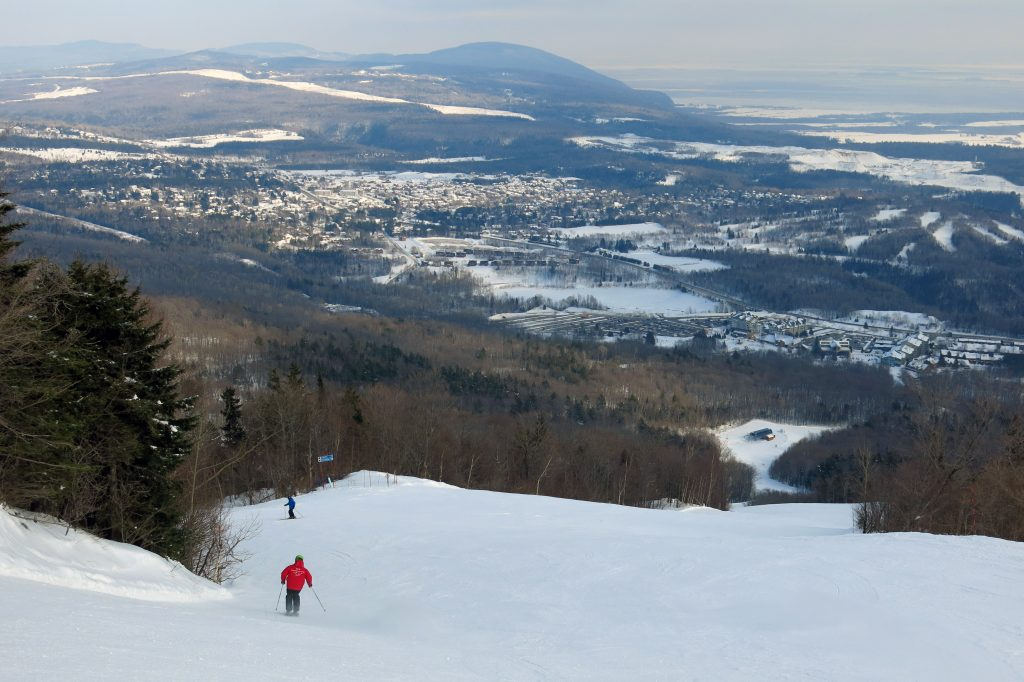La Crete at Mont-Sainte-Anne, Quebec, February 2018