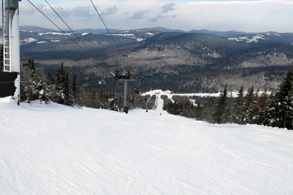 L'Express Du Nord at Mont-Sainte-Anne, Quebec, February 2018