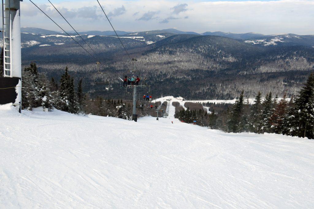 L'Express Du Nord at Mont-Sainte-Anne, Quebec, February 2018