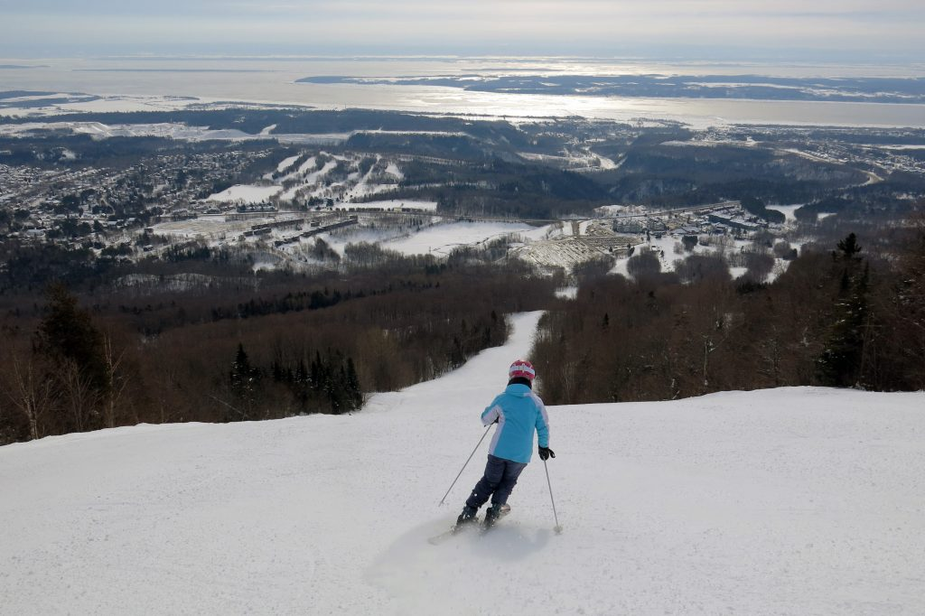 South Side intermediate terrain at Mont-Sainte-Ann, Quebec, February 2018