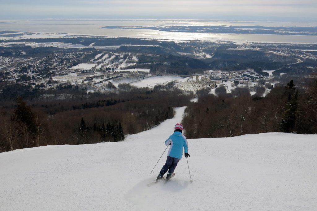 South Side intermediate terrain at Mont-Sainte-Ann, Quebec, February 2018