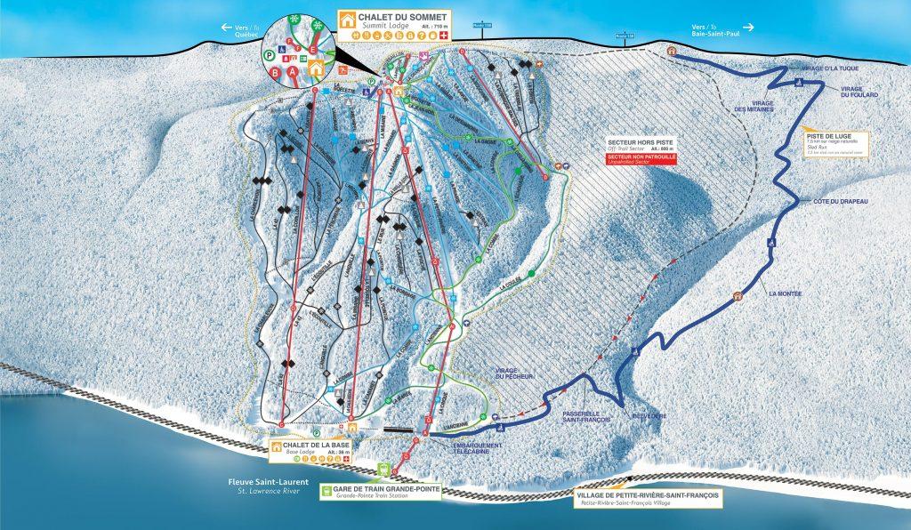 Le Massif Trail Map 17/18