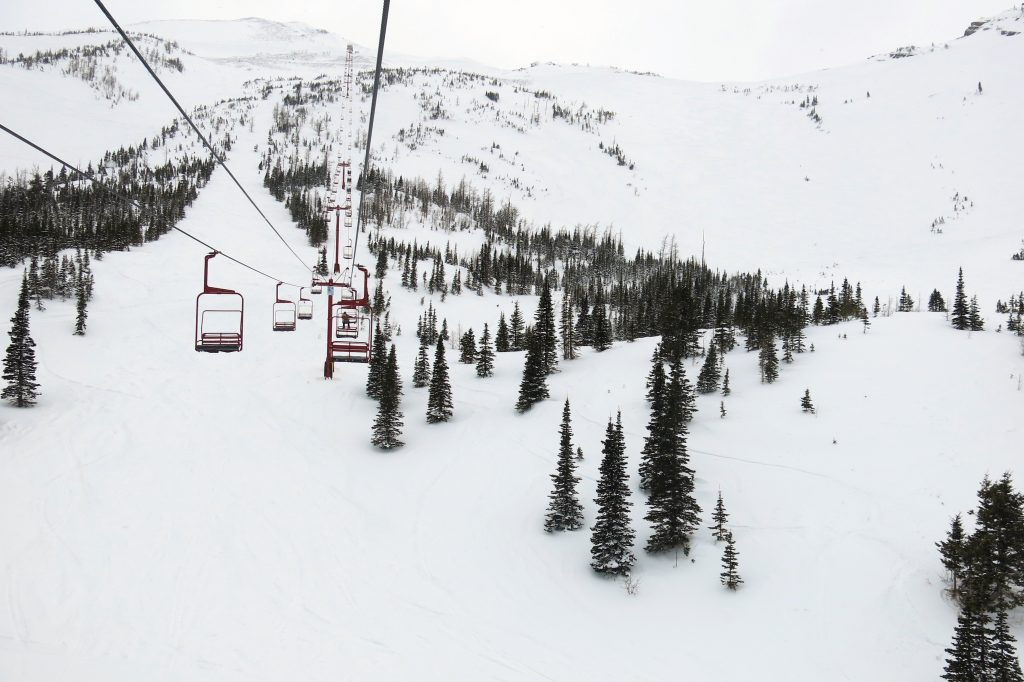 Red Chair at Castle Mountain, March 2018
