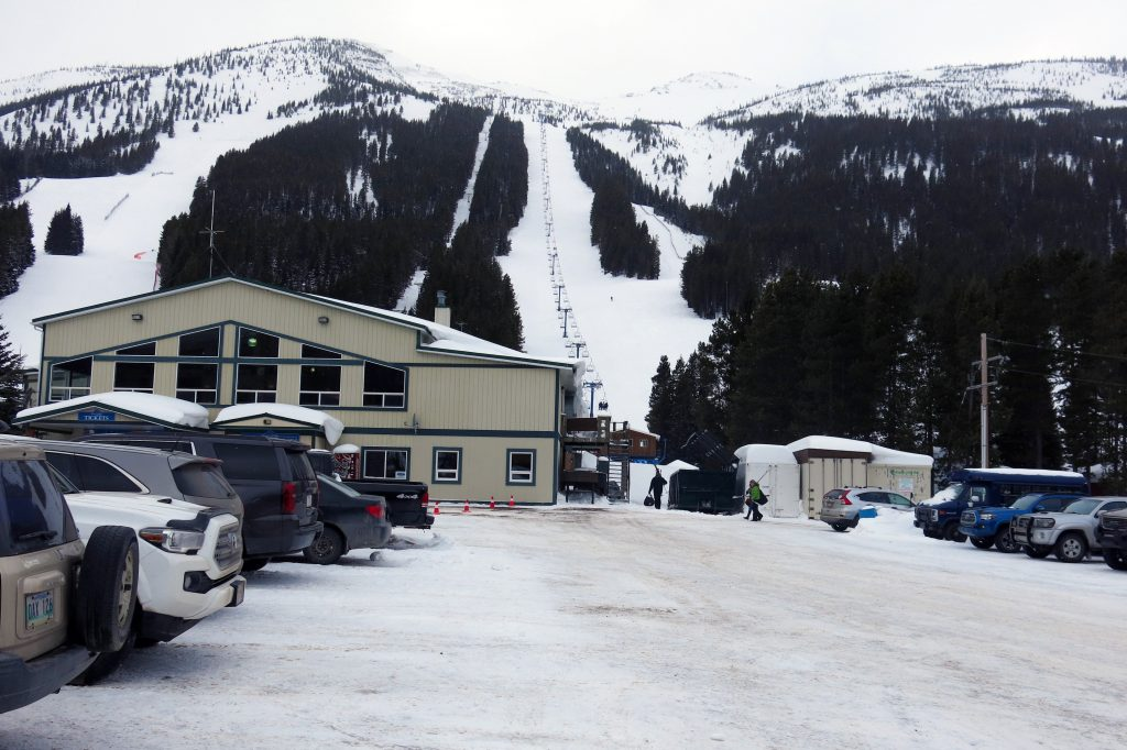 Castle Mountain base area, March 2018