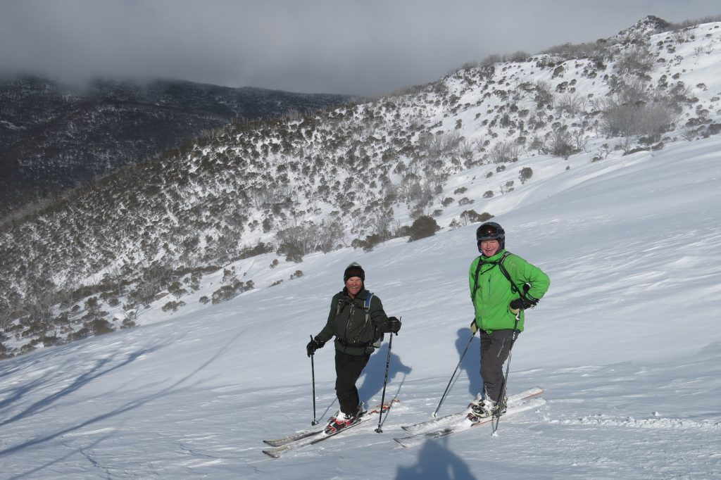 Local guides Graham and John at Thredbo, August 2018