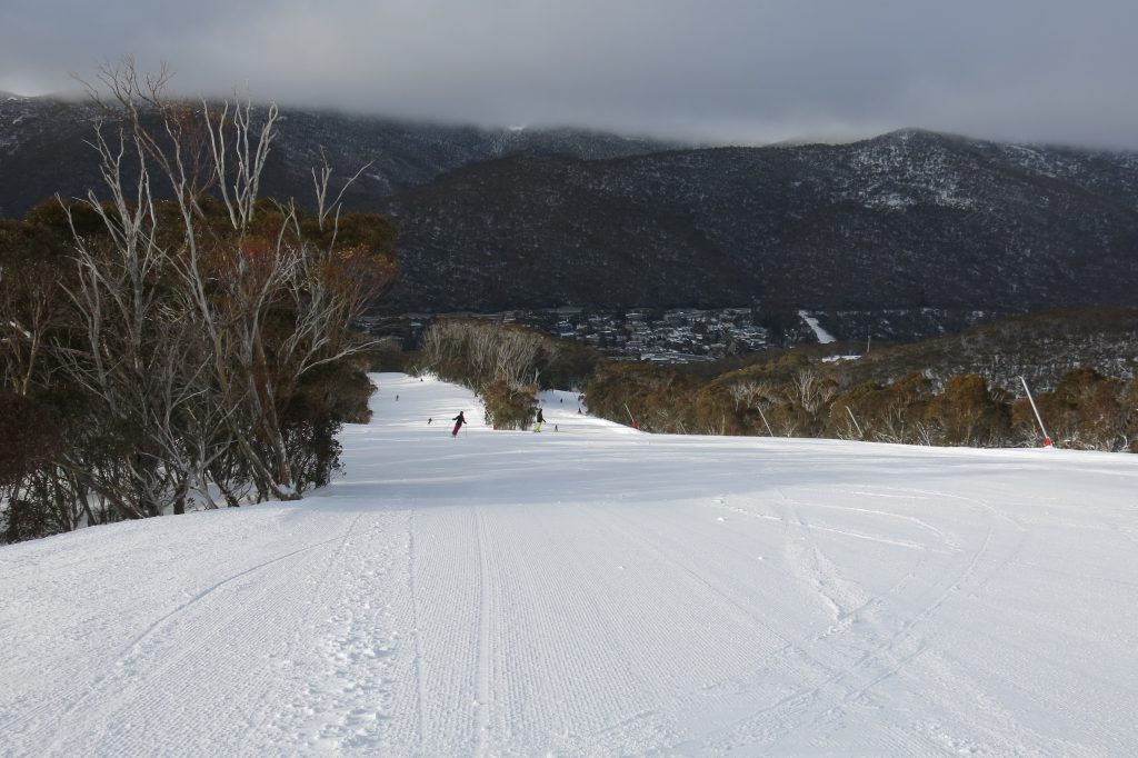 High Noon groomer at Thredbo, August 2018