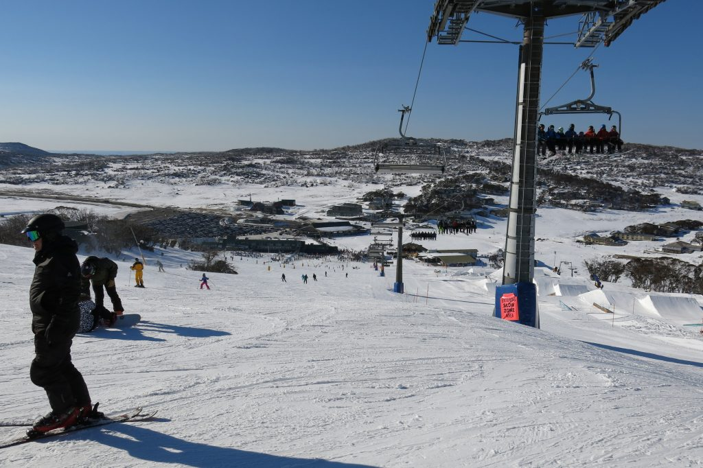 """Village Express"" 8-pack at Perisher, August 2018"