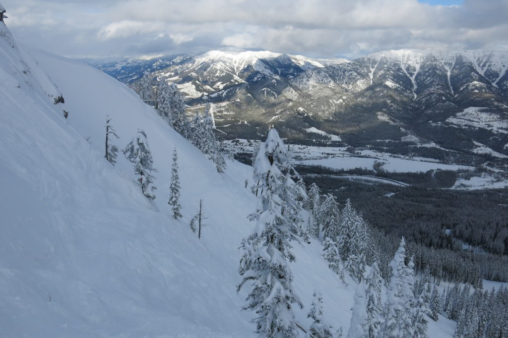 Steep terrain at Fernie, February 2018
