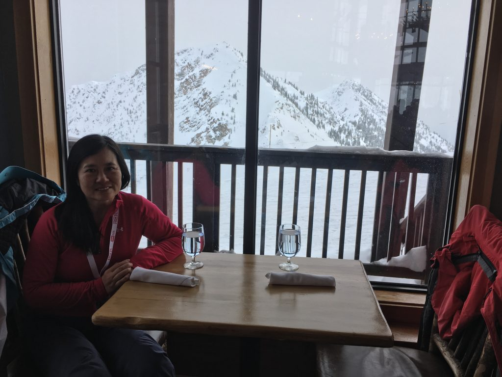 Lunch at Eagle's Eye, Kicking Horse, February 2018