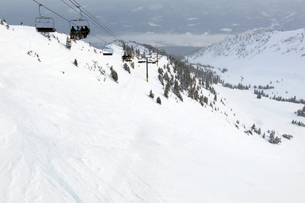 Stairway to Heaven lift at Kicking Horse, February 2018