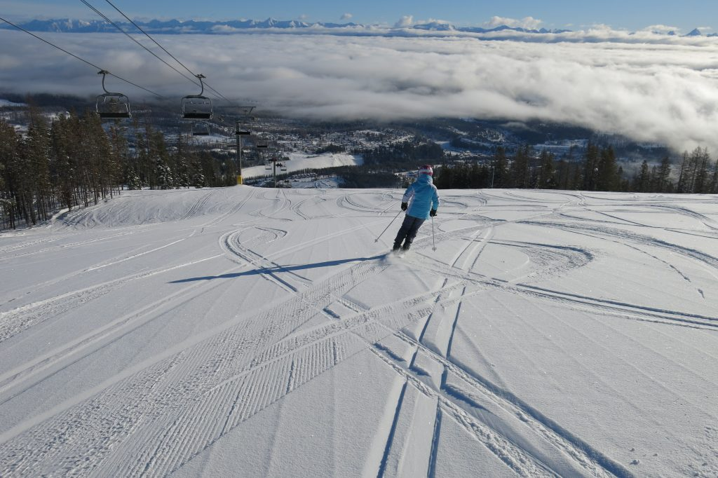 Northstar Mountain relaxed skiing at Kimberley, February 2018