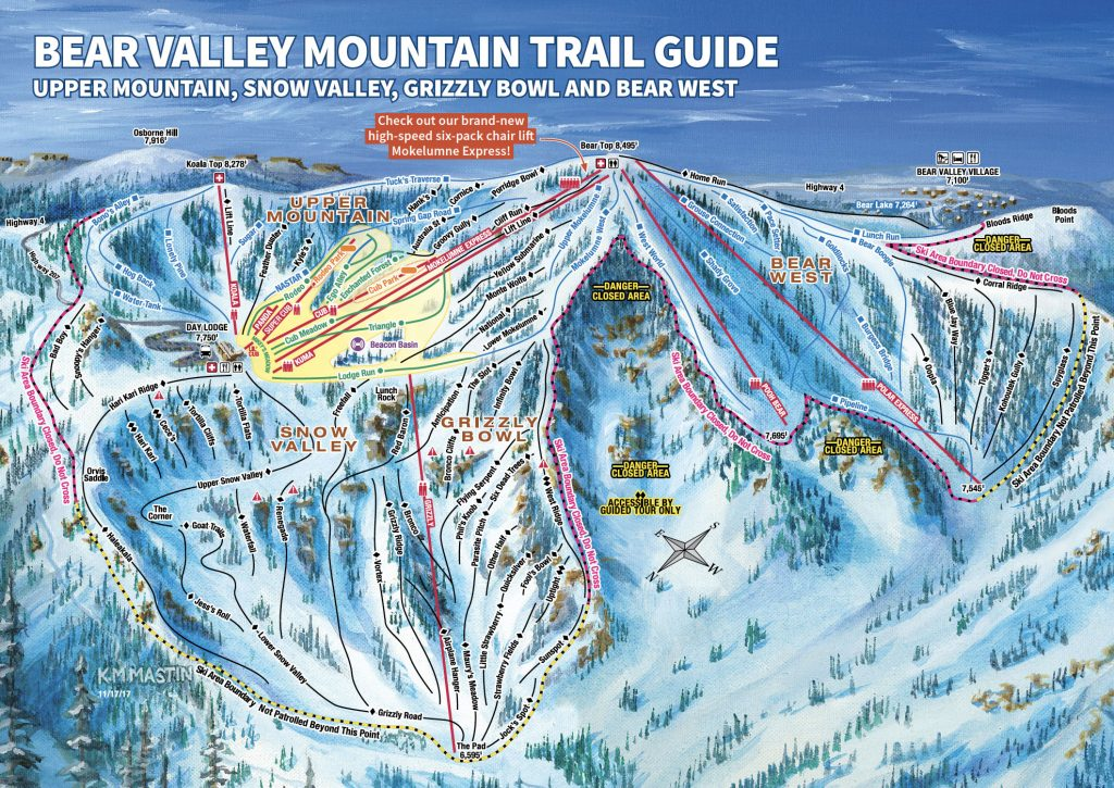 Bear Valley Trail Map 17/18