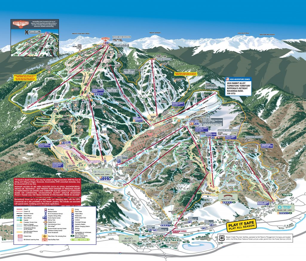 Beaver Creek Trail Map 17/18