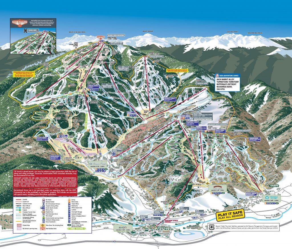 Beaver Creek Trail Map 17/18