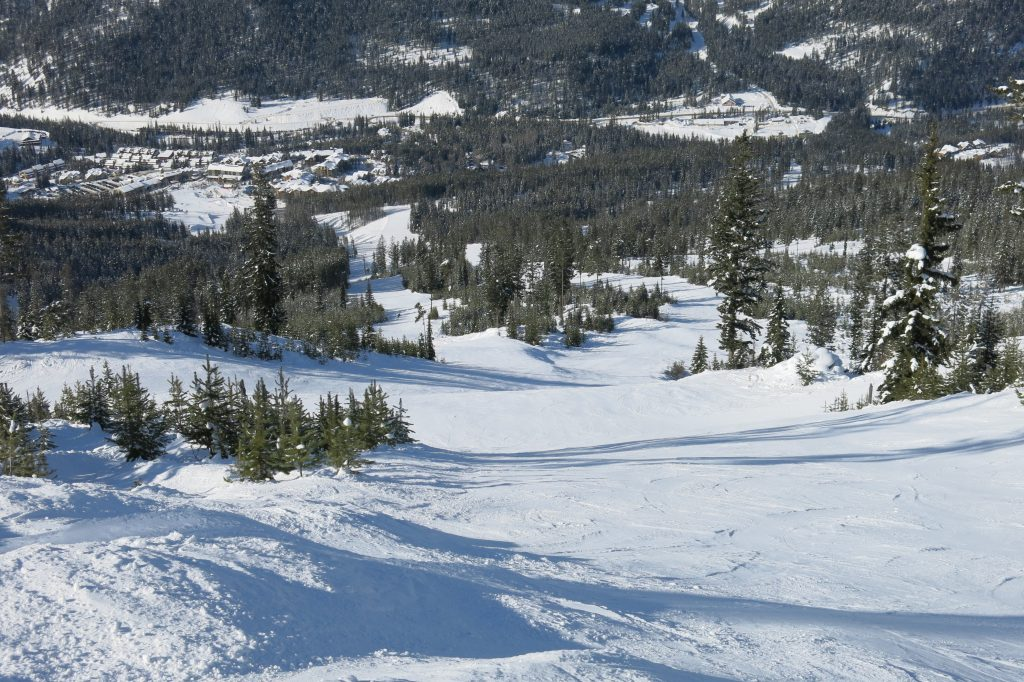 Founder's Ridge steep groomer at Panorama, February 2018