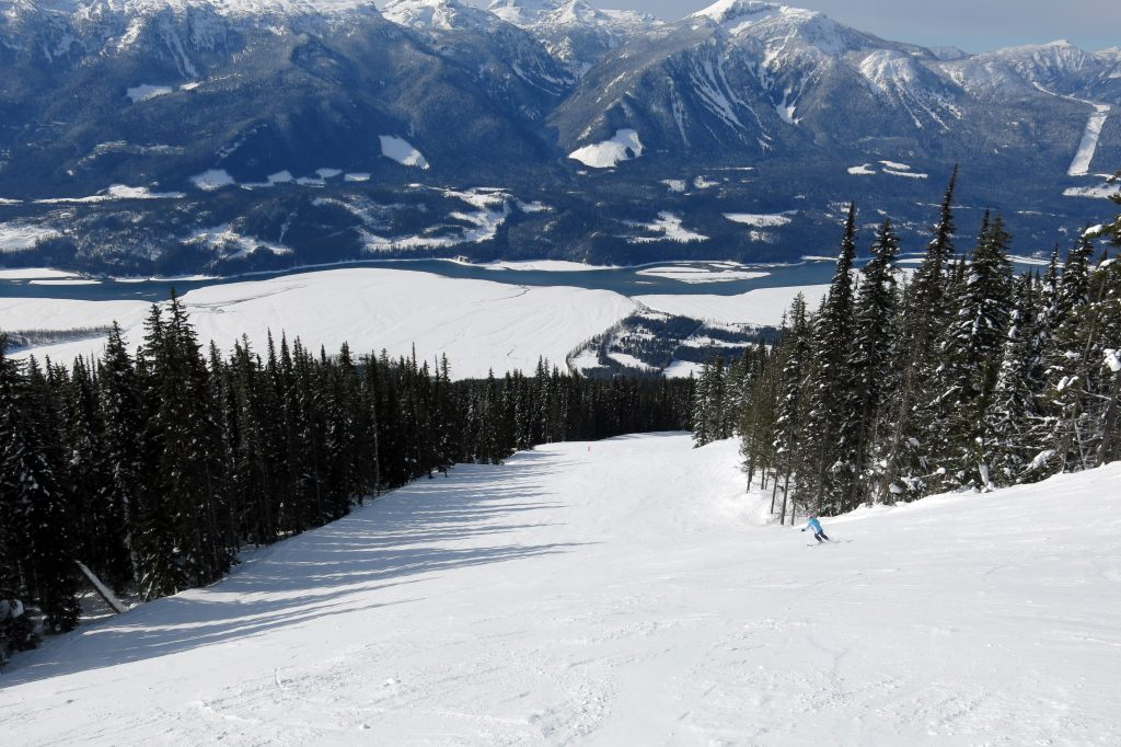 Endless long groomers at Revelstoke, February 2018