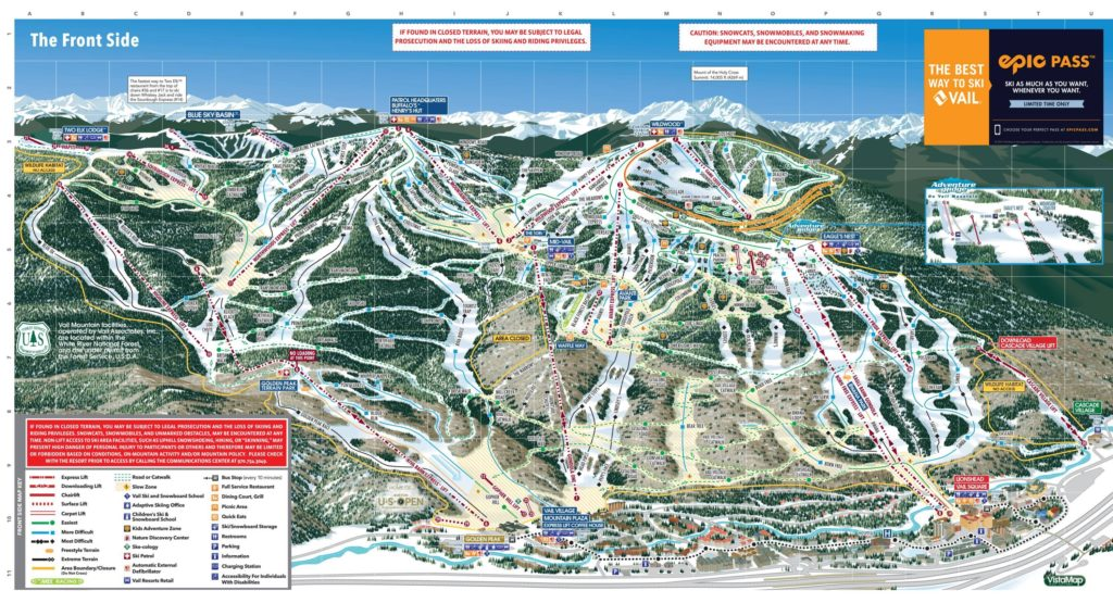 Vail Trail Map (Front side) 2018/19