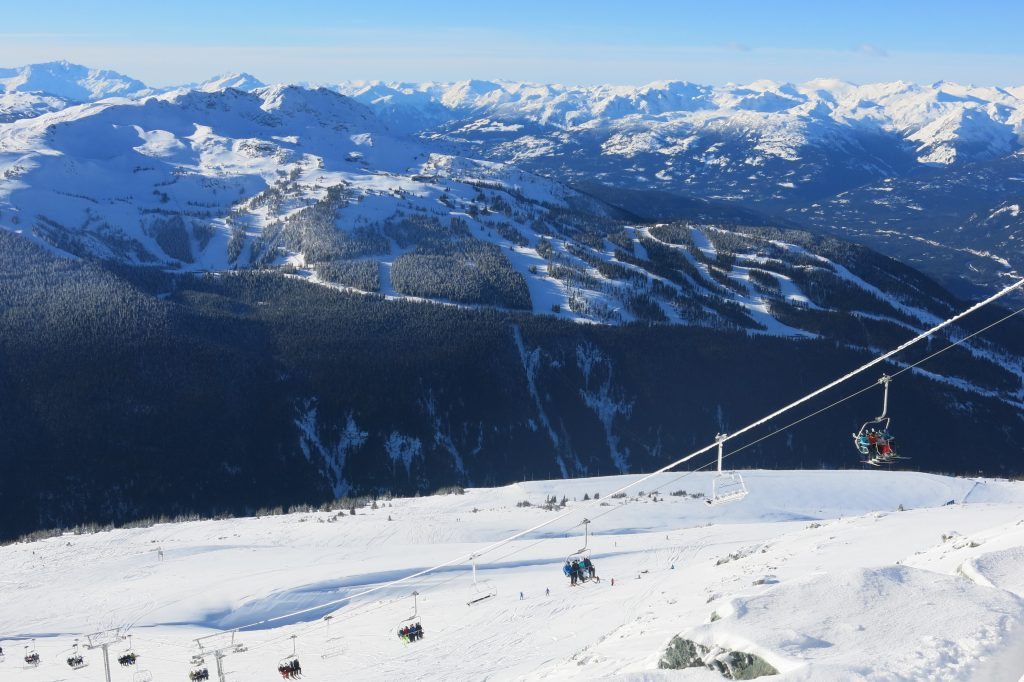 View of Whistler from 7th Heaven at Blackcomb