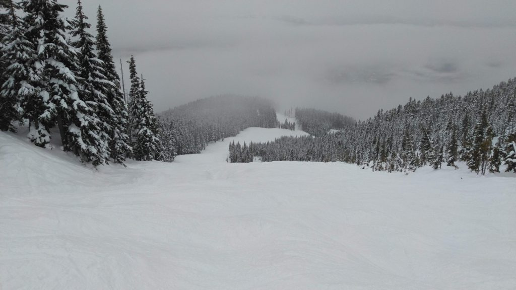 Peak to Creek run at Whistler on a good day, December 2018