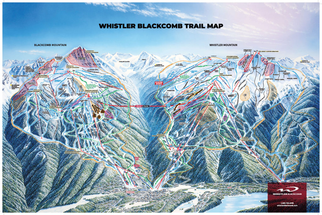 Whistler/Blackcomb trail map 2018/19