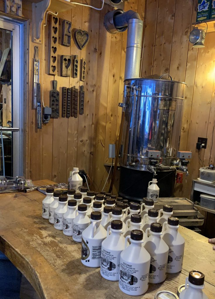 Maple Syrup bottling in Stowe, January 2019