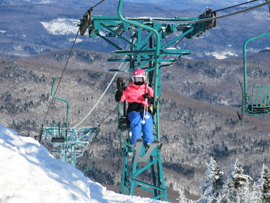 Single chair at Mad River Glen, January 2019