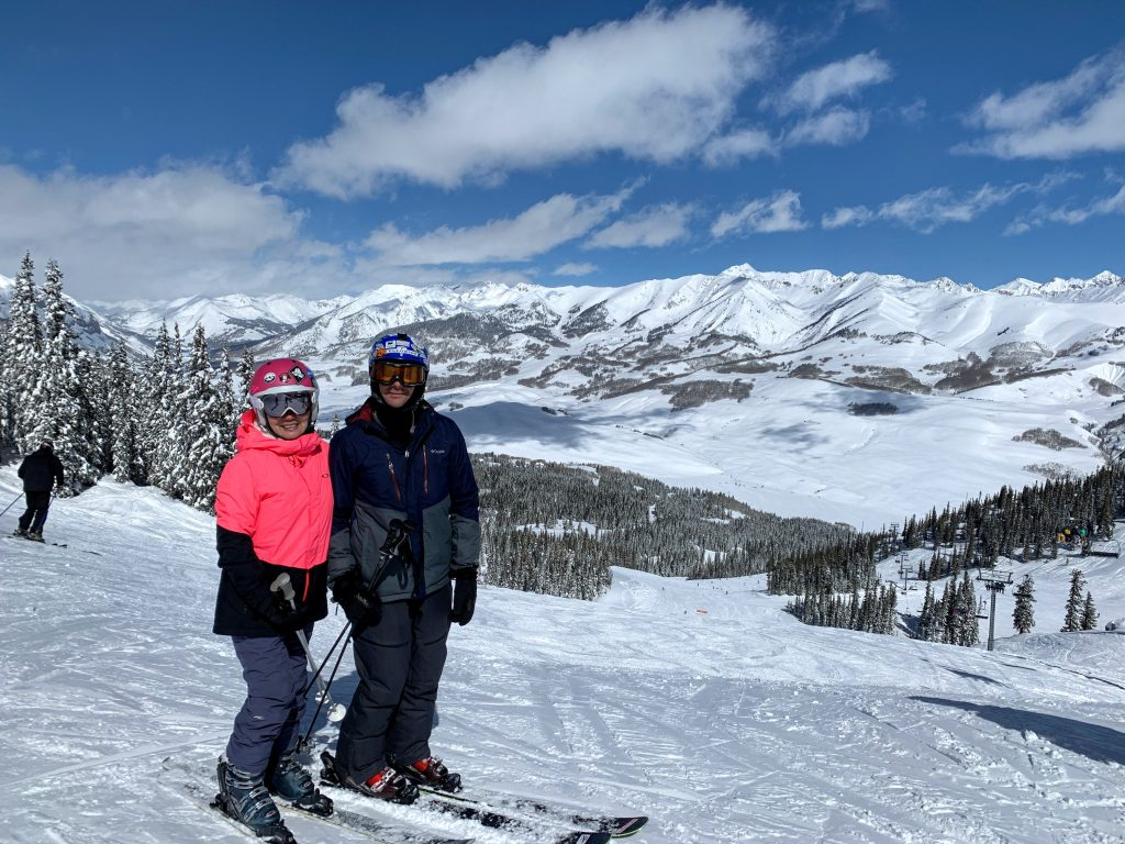 Top of Paradise Bowl at Crested Butte, March 2019