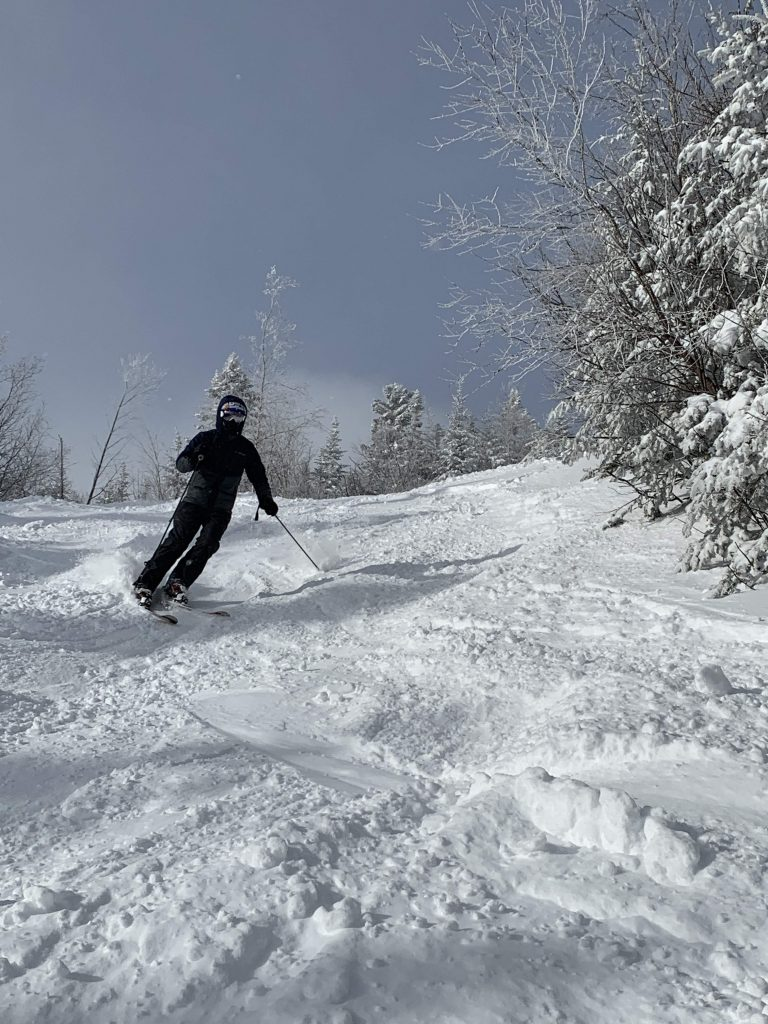 Great snow on the advanced runs at Stowe, January 2019