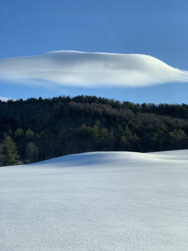 Cloud/Snow art at Stowe near the Trapp Family Lodge, January 2019